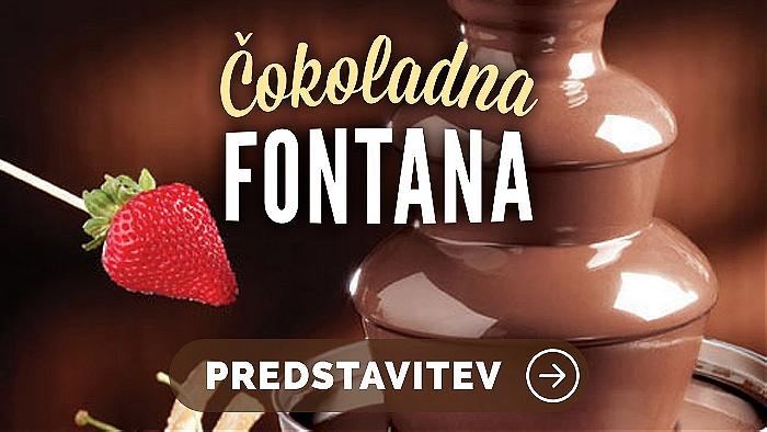 Čokoladna fontana – za najbolj sladko zabavo v vašem življenju!